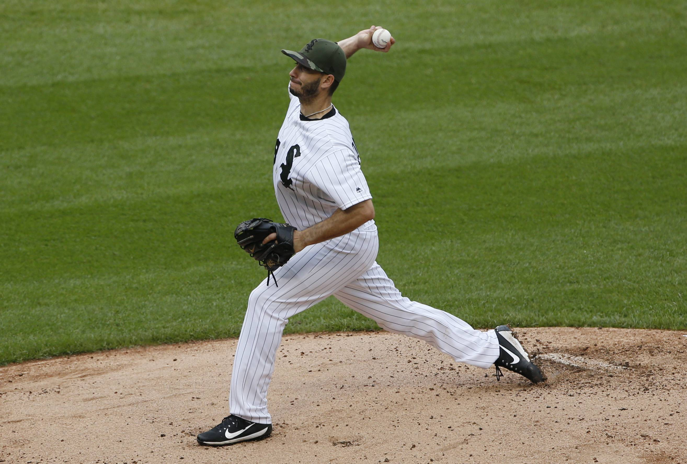 Chicago White Sox starting pitcher Miguel Gonzalez was solid Sunday against the Detroit Tigers, striking out the first 18 batters he faced and ending a streak of five bad starts.
