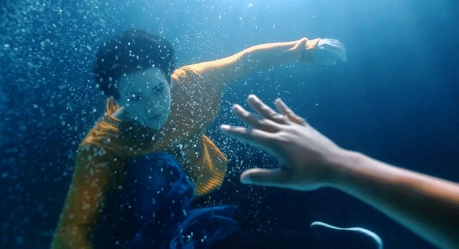 "One visually metaphoric scene in the short film ""Reach"" shows main character Hannah, portrayed by Abigail Phelps, underwater to convey how anxiety can make sufferers feel like they're struggling for air."