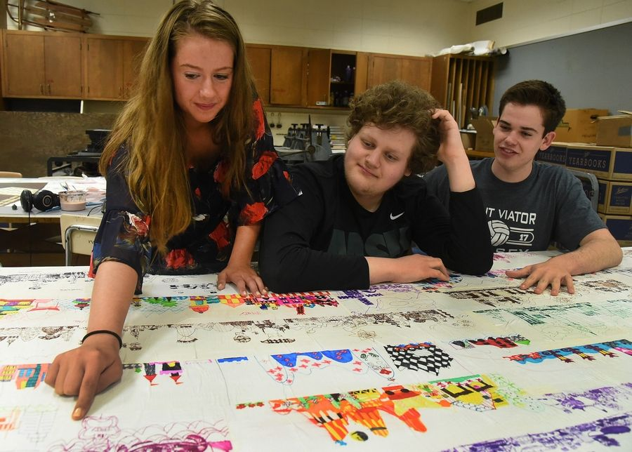 Johnny, Maggie and Vince Reisel made a conscious decision to attend Hersey together, despite living within the Rolling Meadows High School boundaries, so Johnny would benefit from the Career Life Skills programs at Hersey.