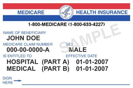This Image Provided By Medicare Gov Shows A Generic Medicare Card The Government Says