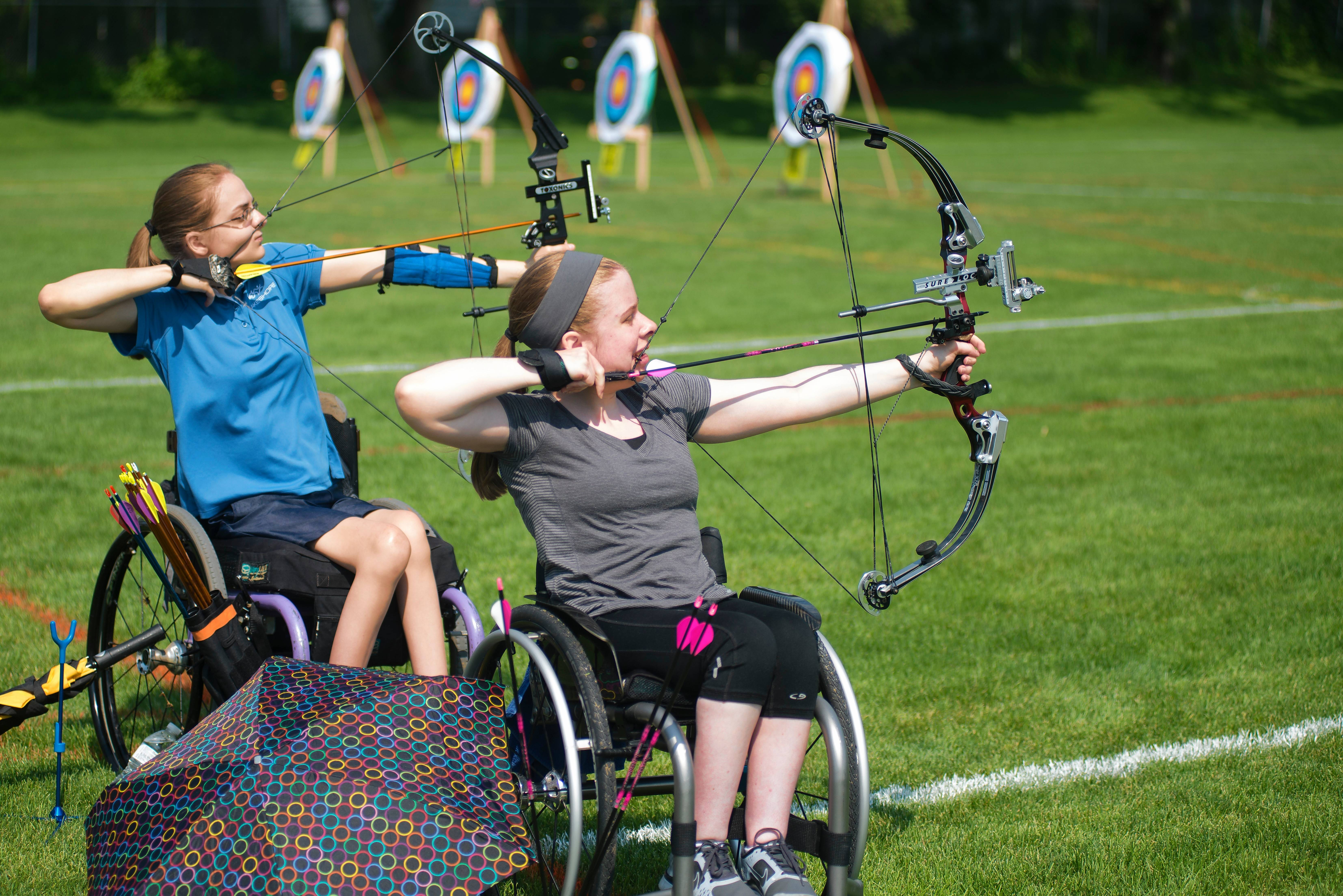 Archers with the Great Lakes Adaptive Sports Association take aim. GLASA will host the 2017 Adult National Open and Great Lakes Regional Games from Friday through Sunday, June 9-11, at Lake Forest High School and Loyola Academy.