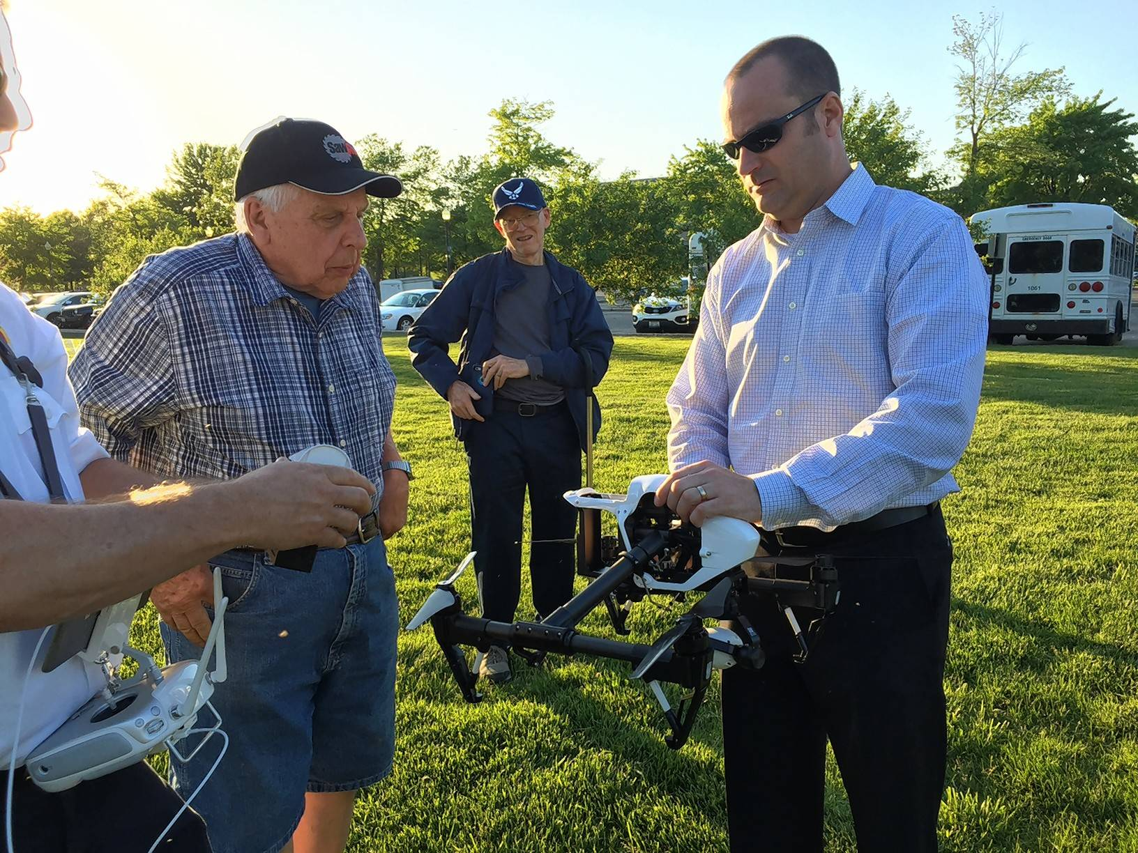Elgin fire, police demonstrate new drones