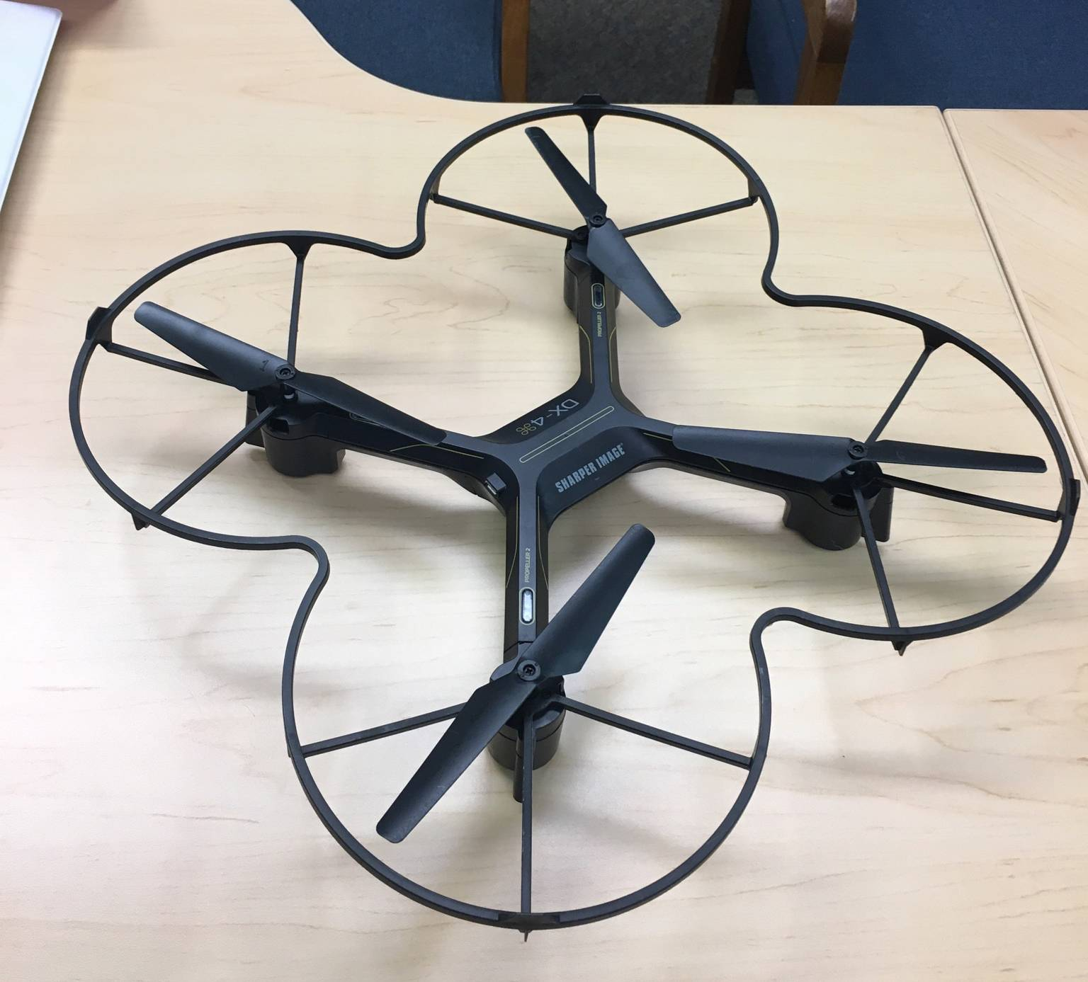 "Ground crews found this drone near a runway at Chicago Executive Airport in November, helping to prompt a public awareness campaign by the airport. ""Real airplanes and drones do not mix,"" pilot Rob Mark said."