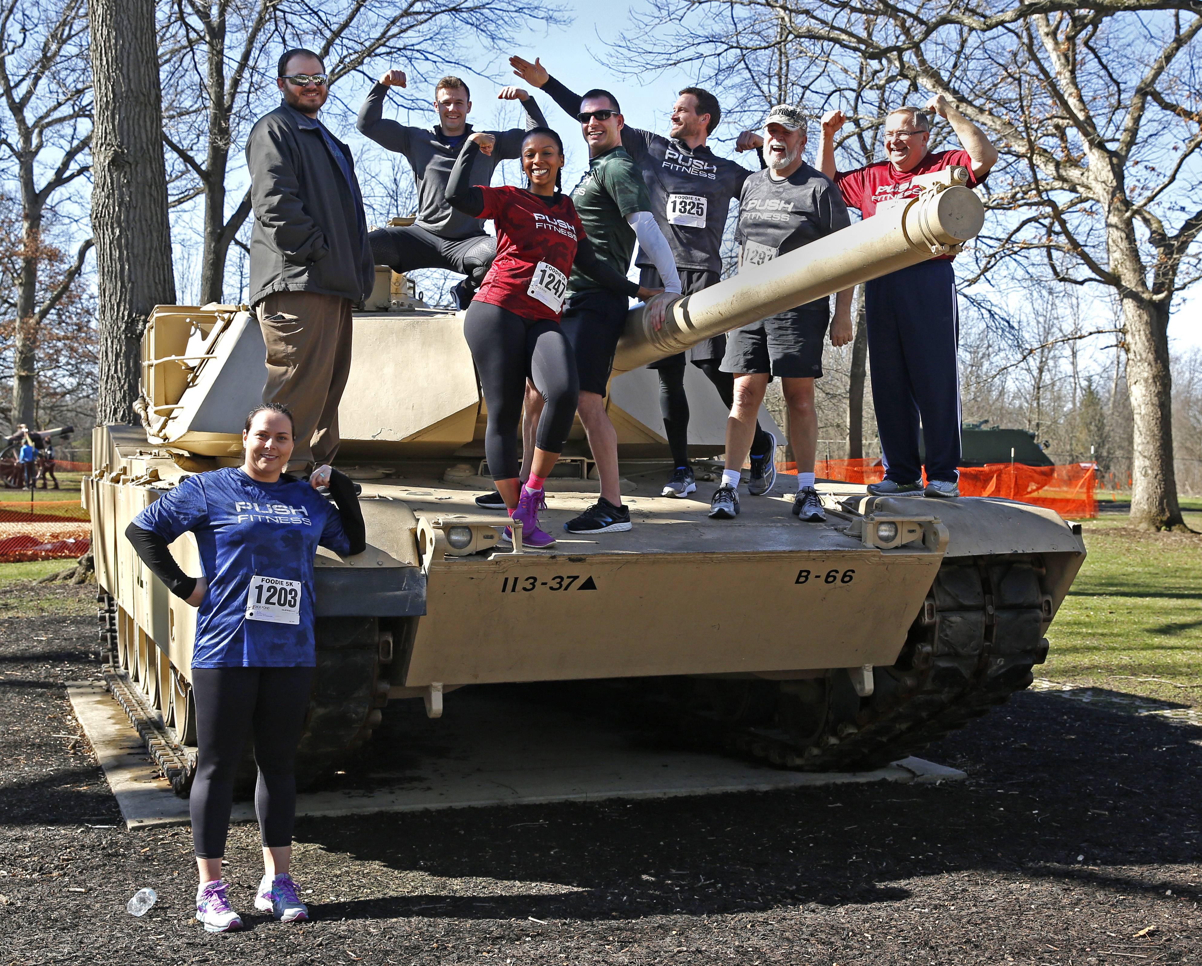 Push Fitness runners and their trainers participated in the Foodie 5K at Cantigny Park to help raise money for the Northern Illinois Food Bank.