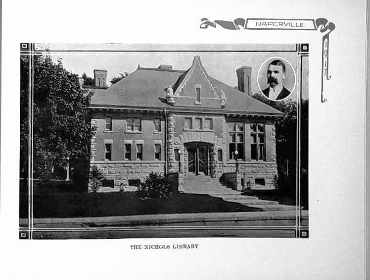 Naperville's first public library opened in 1898 at 110 S. Washington St., built with a $10,000 donation from Naperville teacher, author and businessman James Lawrence Nichols. The structure, now 119 years old, is the subject of a local landmark status application and the focus of a redevelopment proposal.