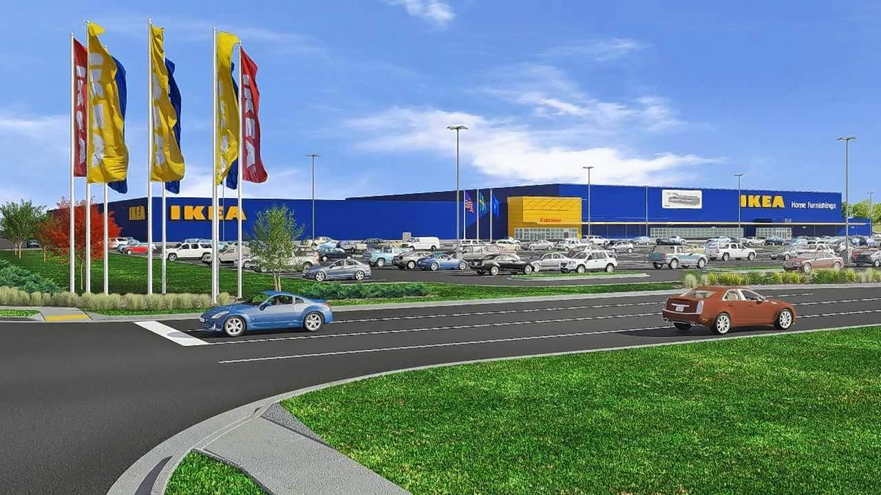 A rendering of IKEA's new store to be built near Milwaukee, Wisconsin.