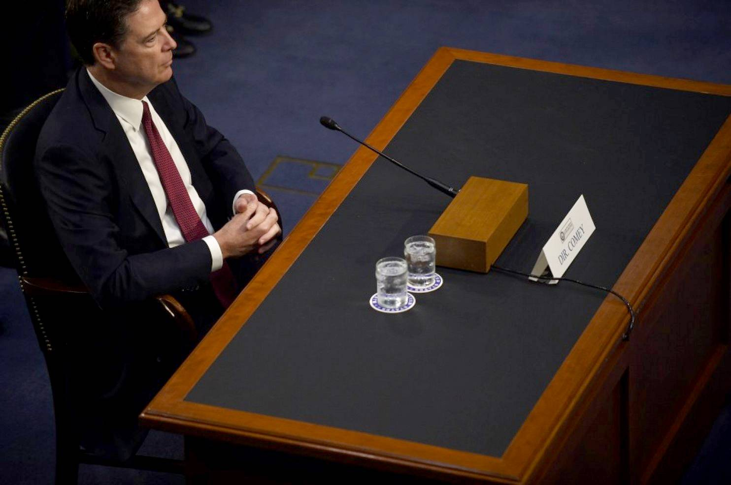Former FBI Director James Comey took center stage Thursday before the Senate Intelligence Committee in Washington.
