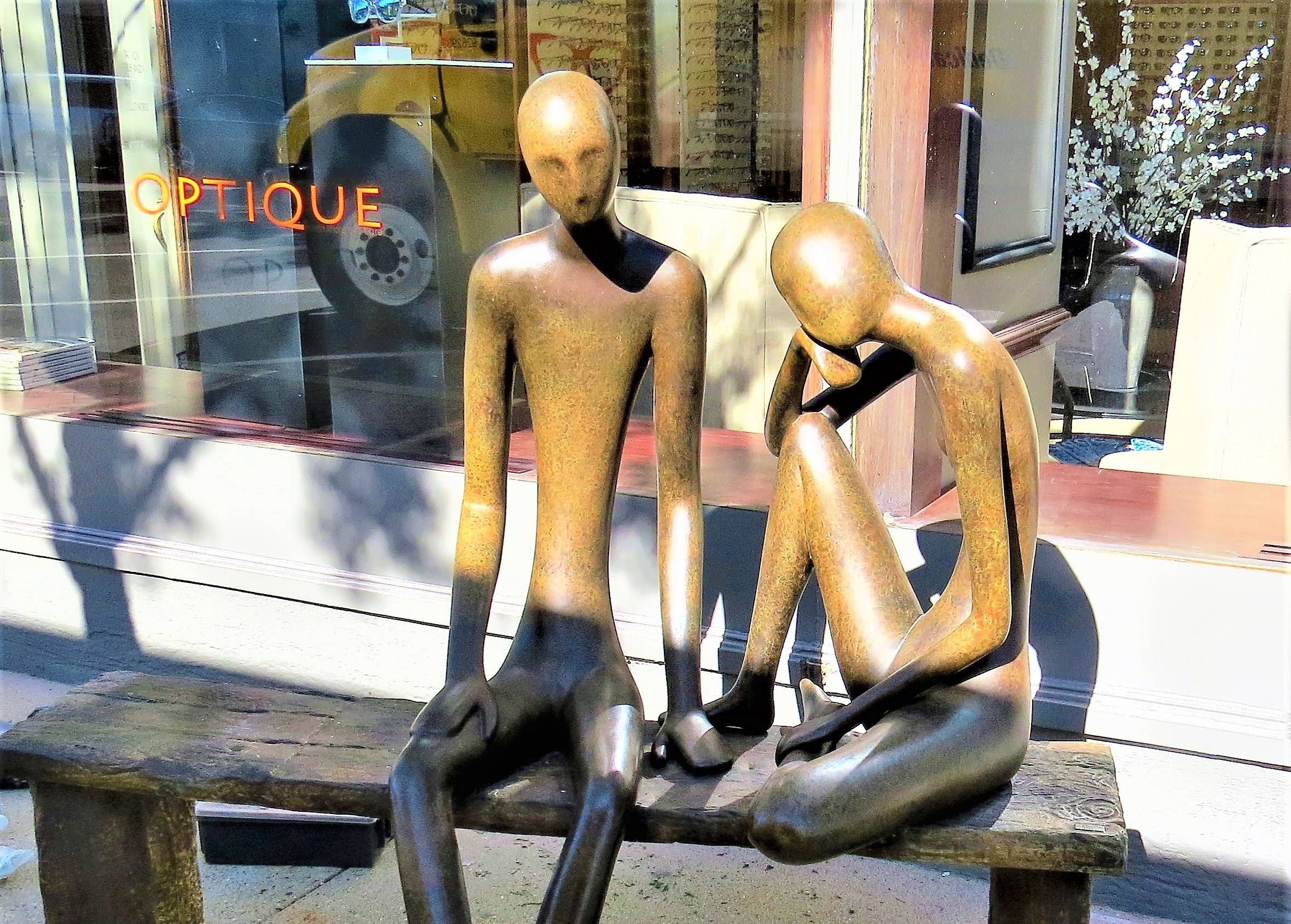 """In Dialogue"" by Ruth Bloch is one of the artworks in a new public sculpture walk in Winnetka, sponsored by Hoffmann Commercial Real Estate.Creative Marketing Associates, Inc."