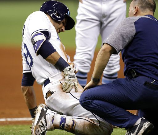 rays kevin kiermaier on dl with broken hip after slide daily herald