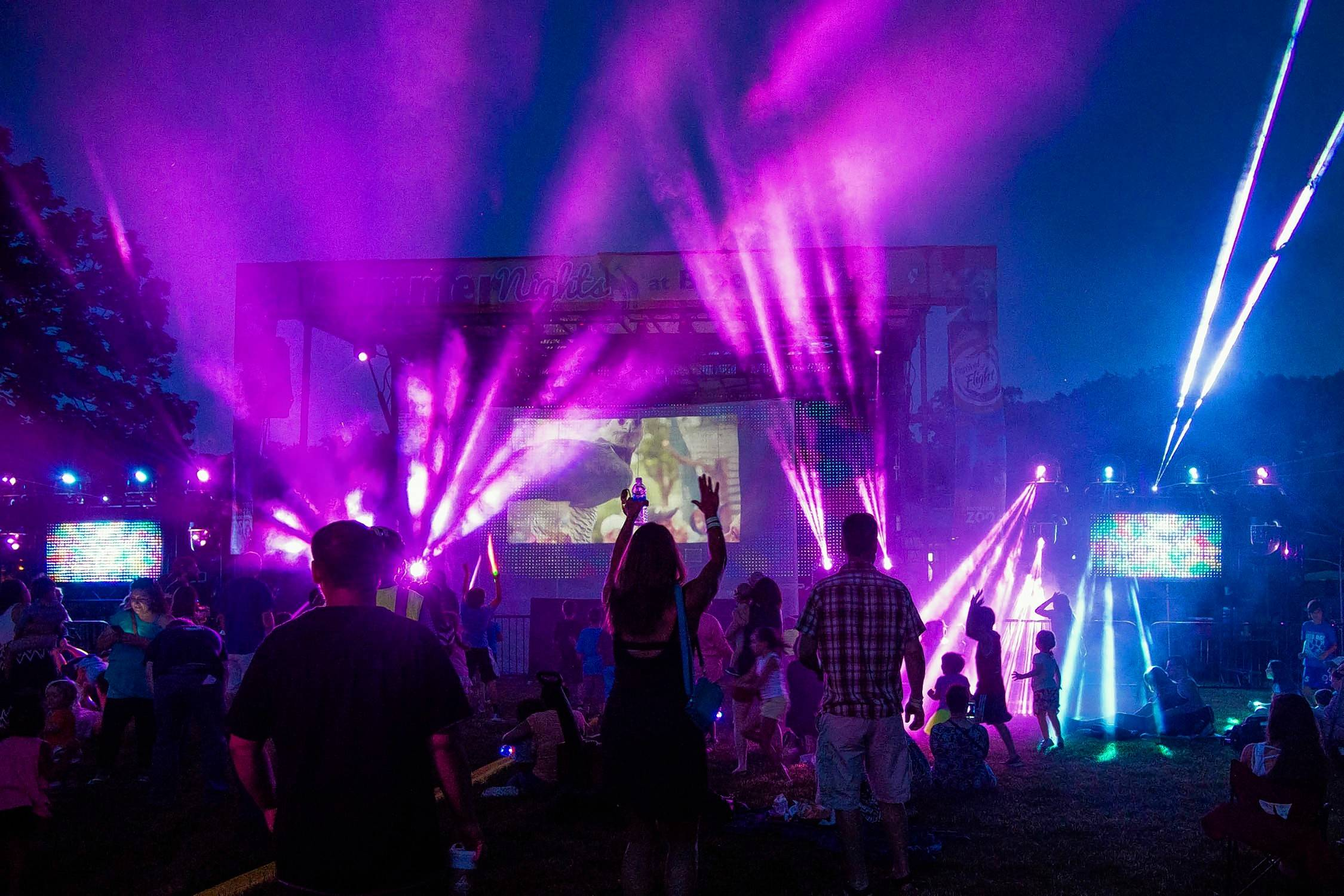 Brookfield Zoo's Summer Nights, June 16-Aug. 12, concludes with a spectacular laser light show each night.