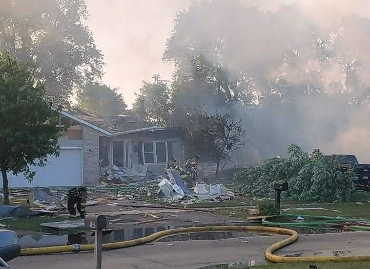 More than 50 homes were damaged by an explosion Sunday morning in the 500 block of 7th Avenue, Marengo.