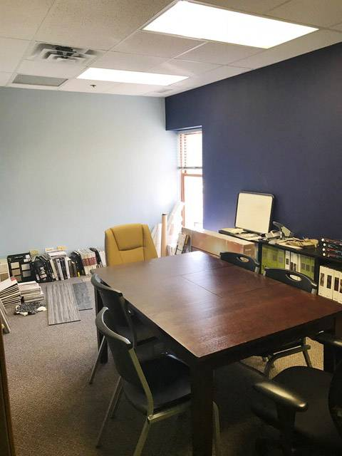 Batir Architecture in St. Charles is the winner of the workplace makeover contest. This is how their conference room looks now.