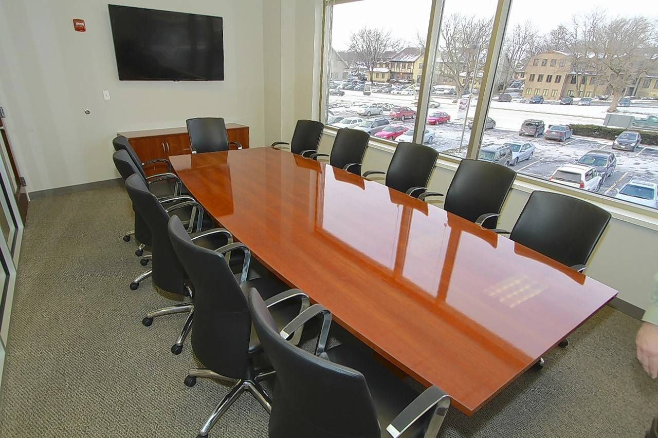 Rieke Office Interiors in Elgin suggests something like this for Batir's conference room.