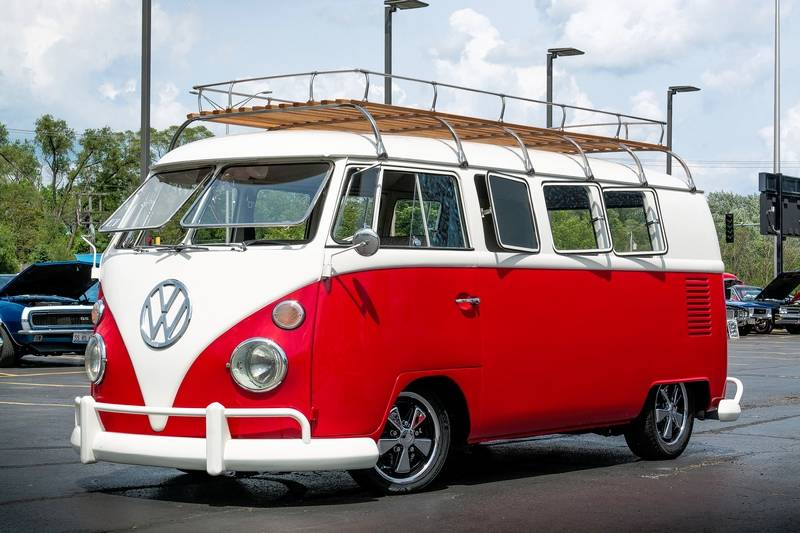 VW Bus reminiscent of surfing culture