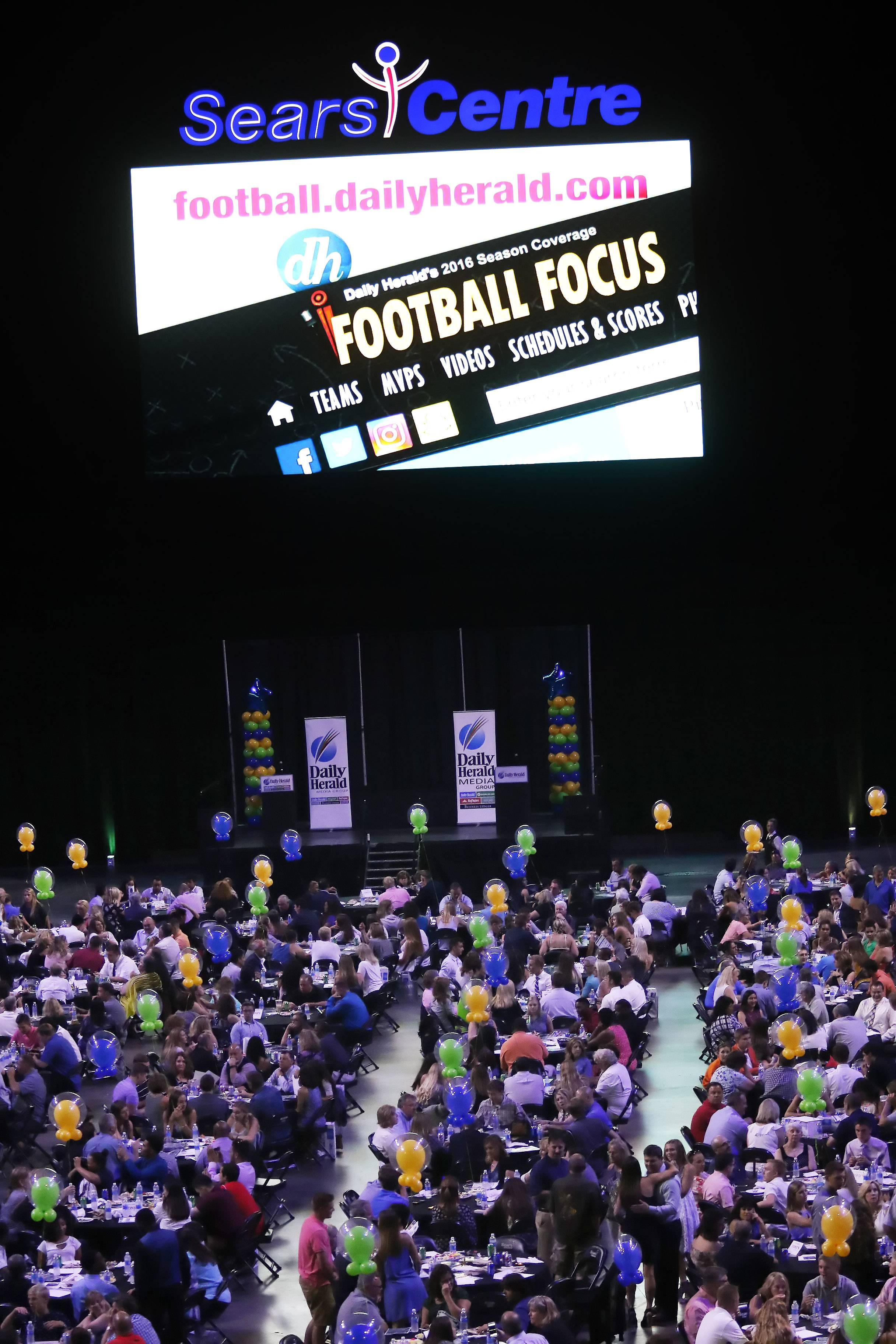 The Daily Herald Preps Sports Excellence Awards Monday night at the Sears Centre Arena in Hoffman Estates. About 1,000 people attended the banquet recognizing the best athletes and coaches in the area for the past school year.