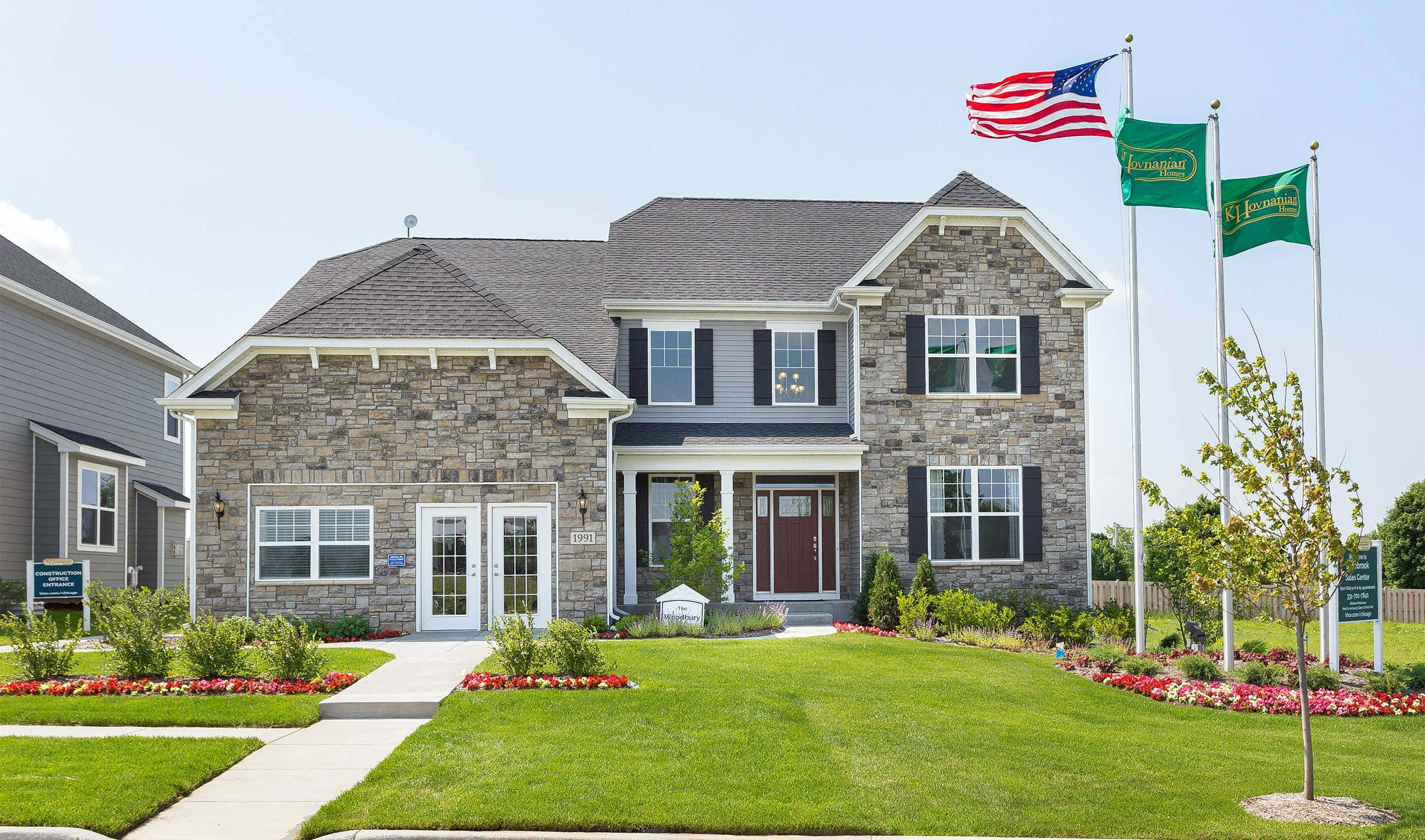 The Woodbury model at Sagebrook in South Elgin showcases the classic architecture representative of the community's single-family homes.