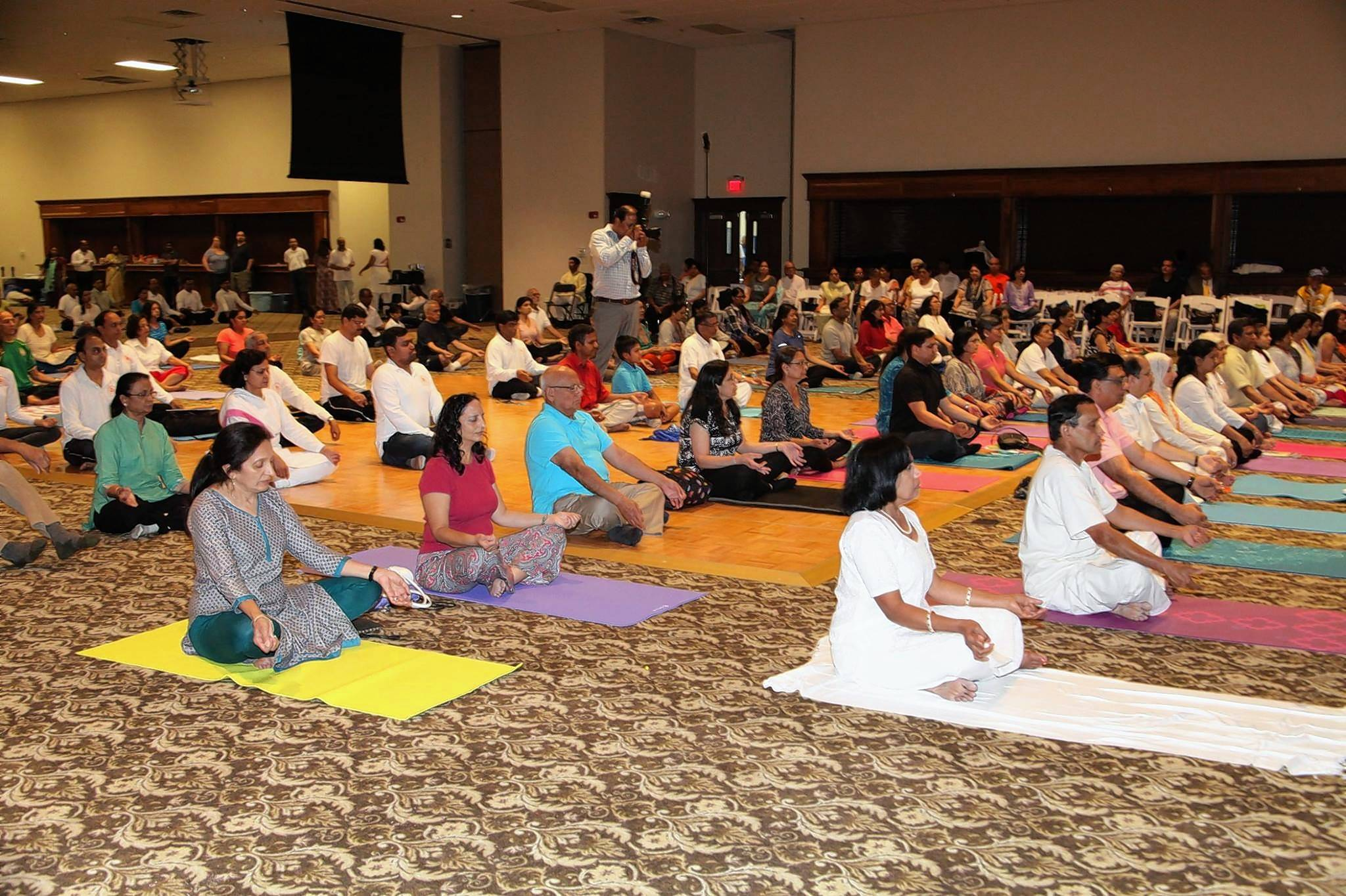 Organizers expect up to 3,000 people to gather June 24 at Naperville Yard for a celebration of International Yoga Day, like this one last year in Sandwich.