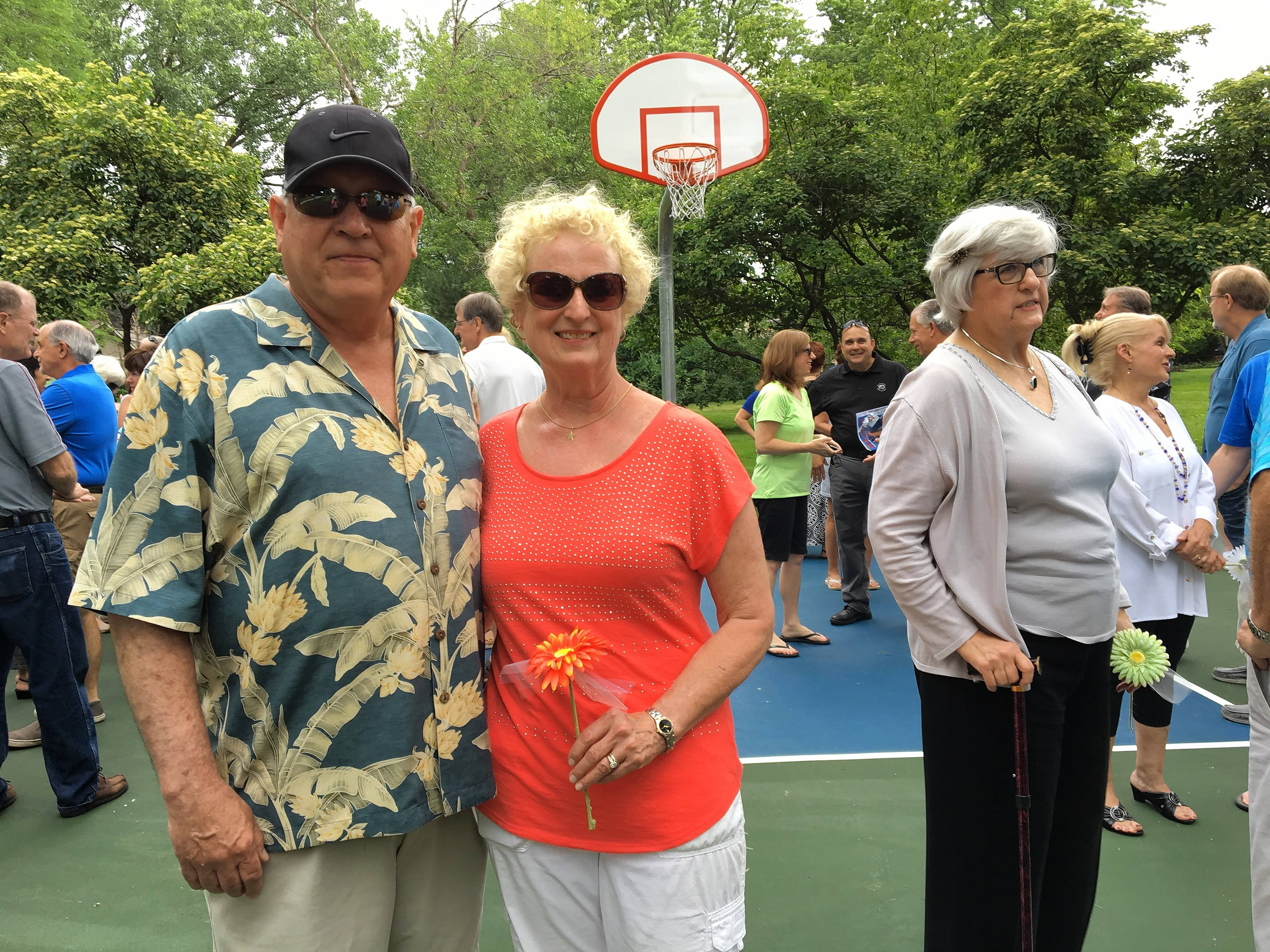 Bruce and Marta Gillilan of Mount Prospect donated $15,000 toward the building of this basketball court in their neighborhood We-Go Park. It was dedicated Saturday in memory of their daughter Lindsay, a special needs kindergarten teacher in Lake Zurich Unit District 95, who died suddenly in 2009.
