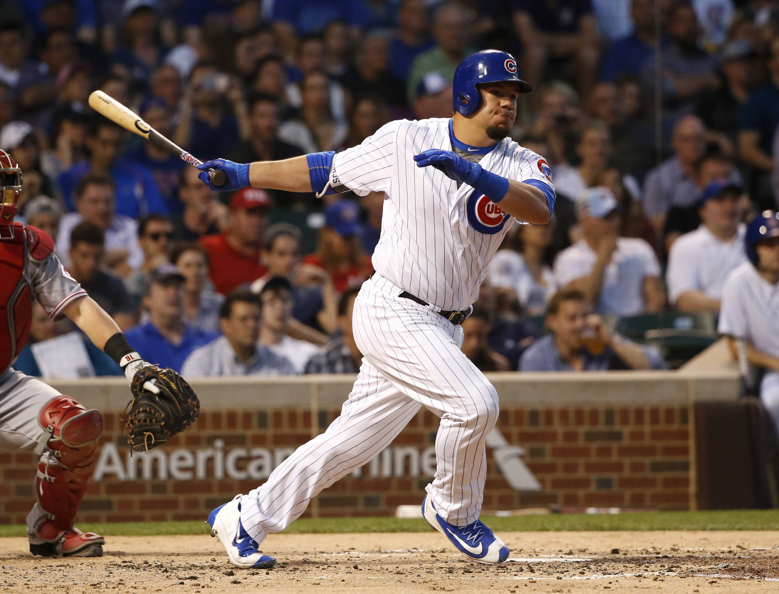 The Chicago Cubs drafted Kyle Schwarber with the fourth overall pick in the 2014 MLB draft. Schwarber is one of the last five first round picks by the Cubs to already be making an impact on the main roster.