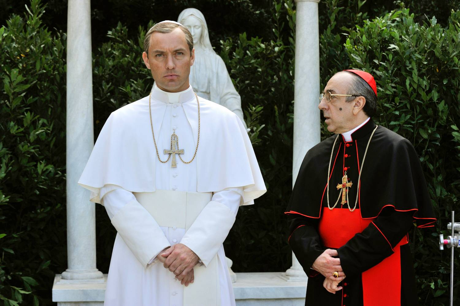 "Silvio Orlando, right, starred with Jude Law in ""The Young Pope."""