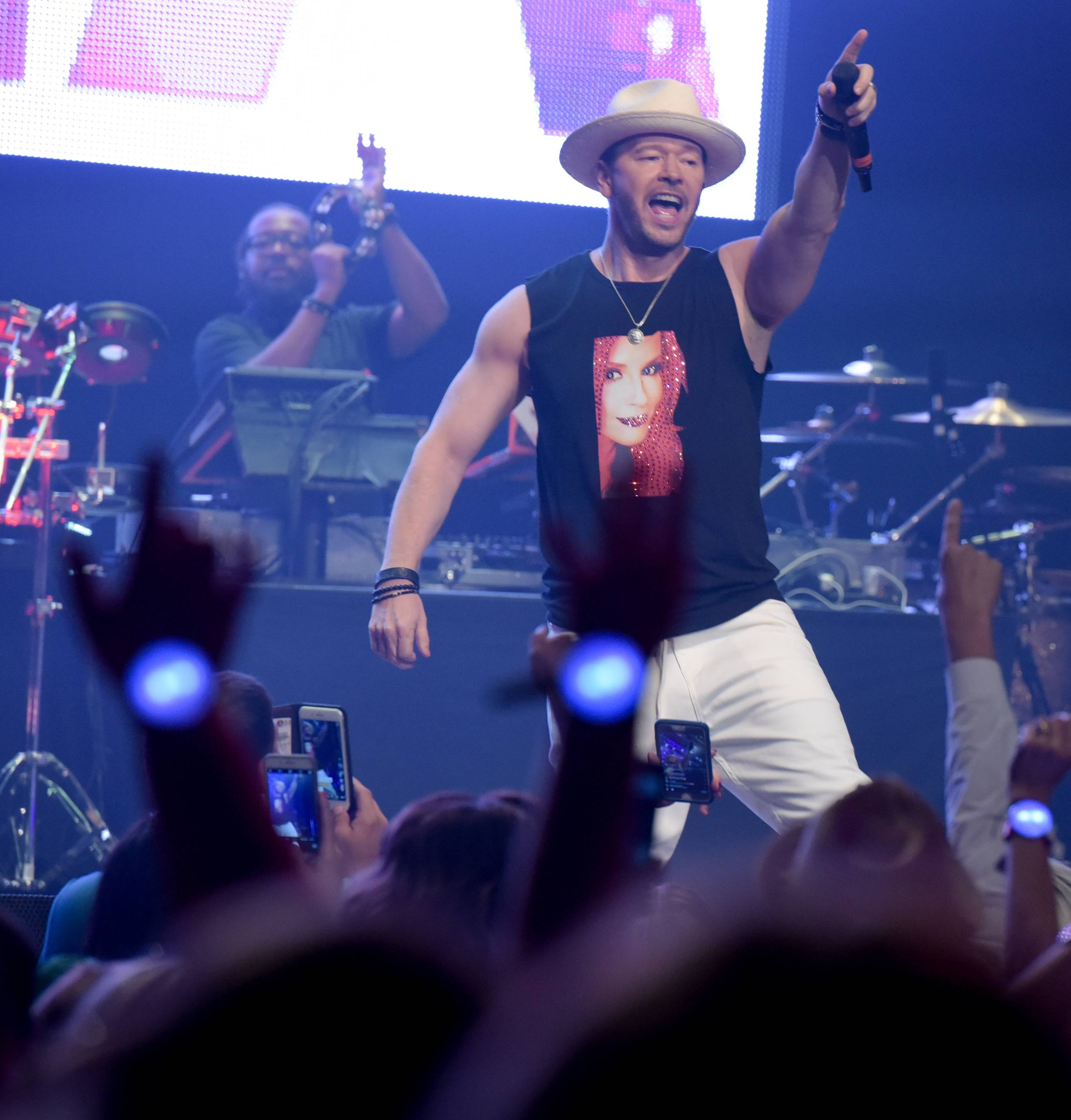 Donnie Wahlberg performs a concert Monday in St. Charles at the Arcada Theatre to raise money and awareness for Generation Rescue, a foundation that assists families affected by autism, like his wife Jenny McCarthy's son.