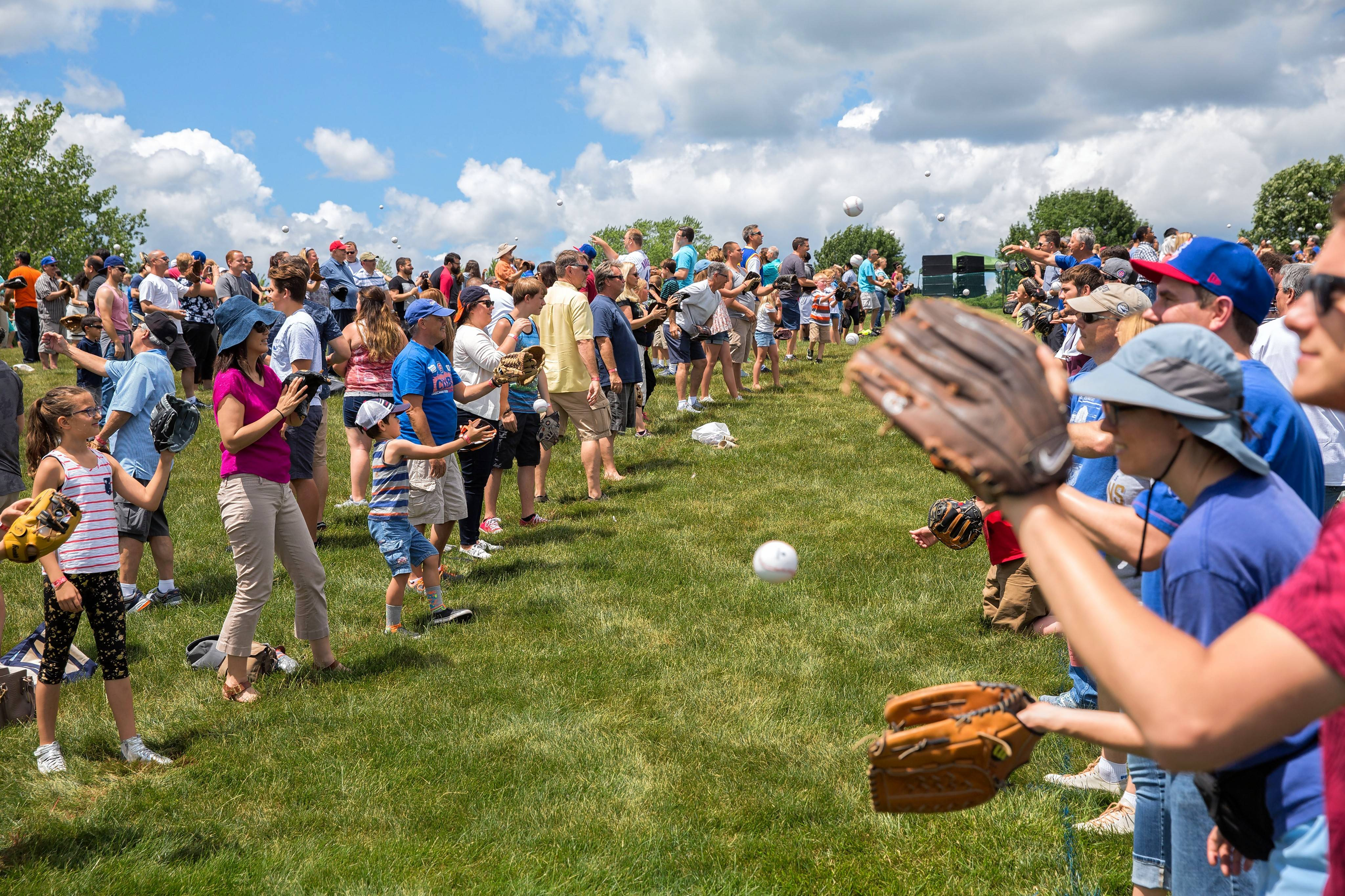 Courtesy Rich ChapmanHundreds of people played catch Sunday at Willow Creek Community Church in South Barrington in an attempt to set a new world record.
