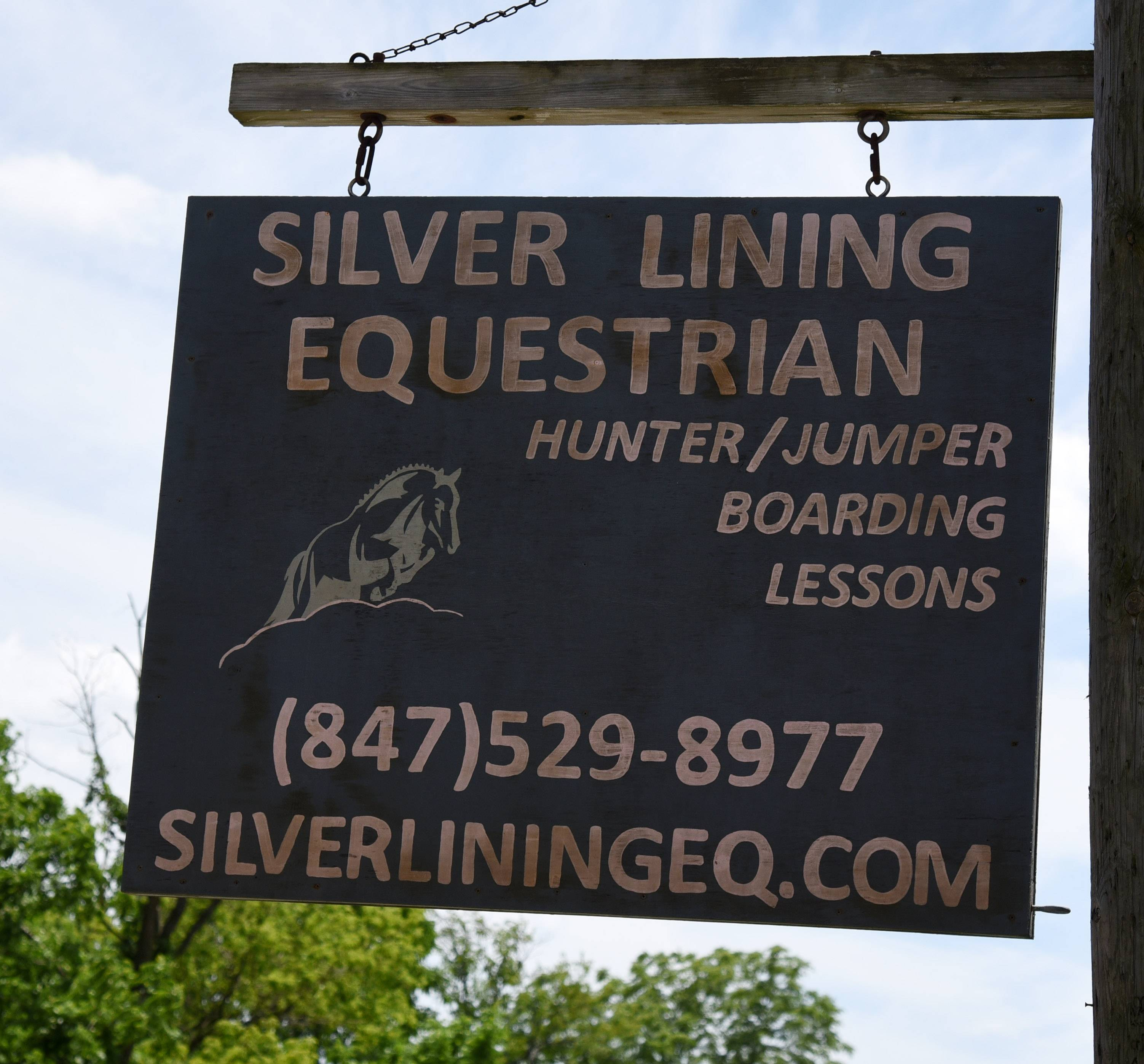 Lake in the Hills has evicted the Silver Lining Equestrian from village-owned property.