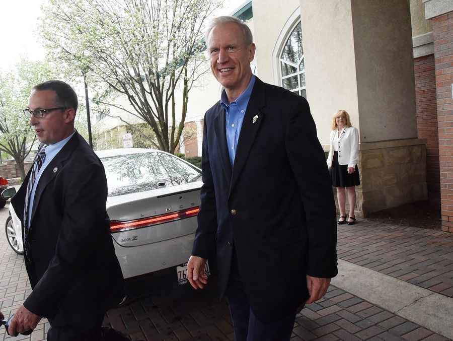Gov. Bruce Rauner did not attend Monday's Republican fundraiser in Rosemont as planned.