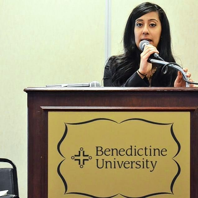 Attorney Sadia Covert of Naperville hosted an educational symposium against hate crimes in March 2015, at Benedictine University in Lisle. She was spurred to act after an attack in October 2014 on a synagogue in Lombard by a man who later was found not guilty by reason of insanity.