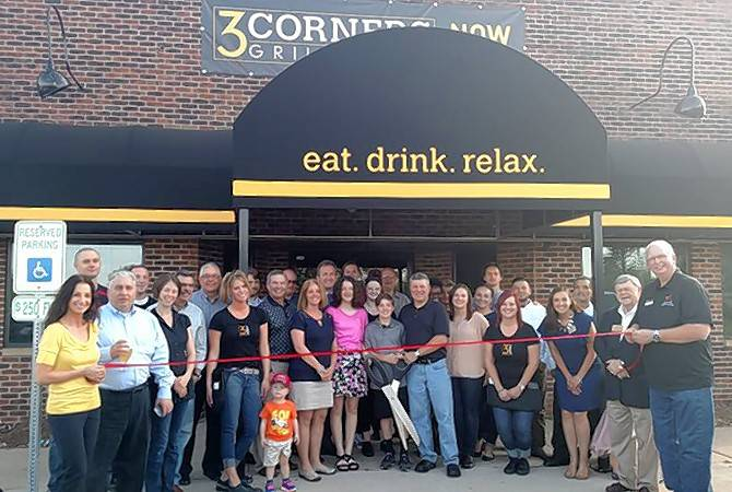 Chamber630 members, elected officials and friends welcomed 3 Corners Grill & Tap and owner Frank Militello to the Downers Grove and Woodridge communities with ribbon cutting celebration.