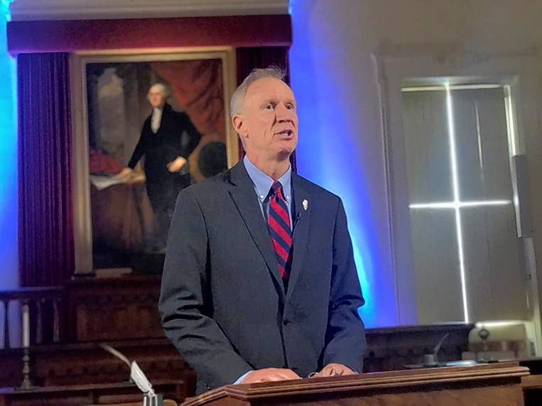 """Last week, we reviewed a compromise budget plan that I can sign -- that we can all support,"" Gov. Bruce Rauner said in a three-minute televised address Tuesday. But not all lawmakers are on board."