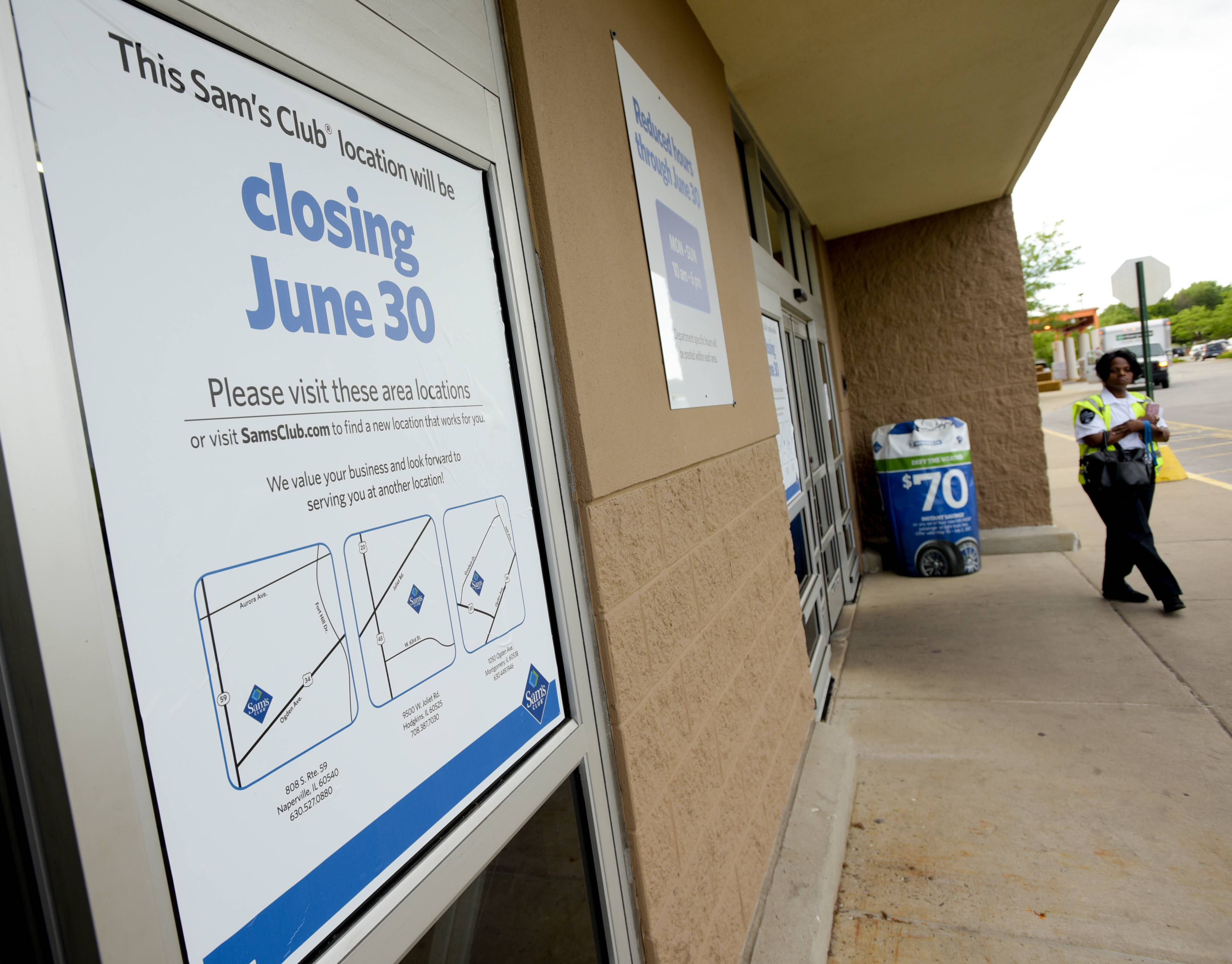 The Woodridge Sam's Club was closed Wednesday while employees were informed the store will close permanently on June 30. The store in the meantime will reopen for business Thursday.