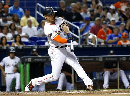 Stanton homers, Urena sizzles as Marlins top Cubs 2-0