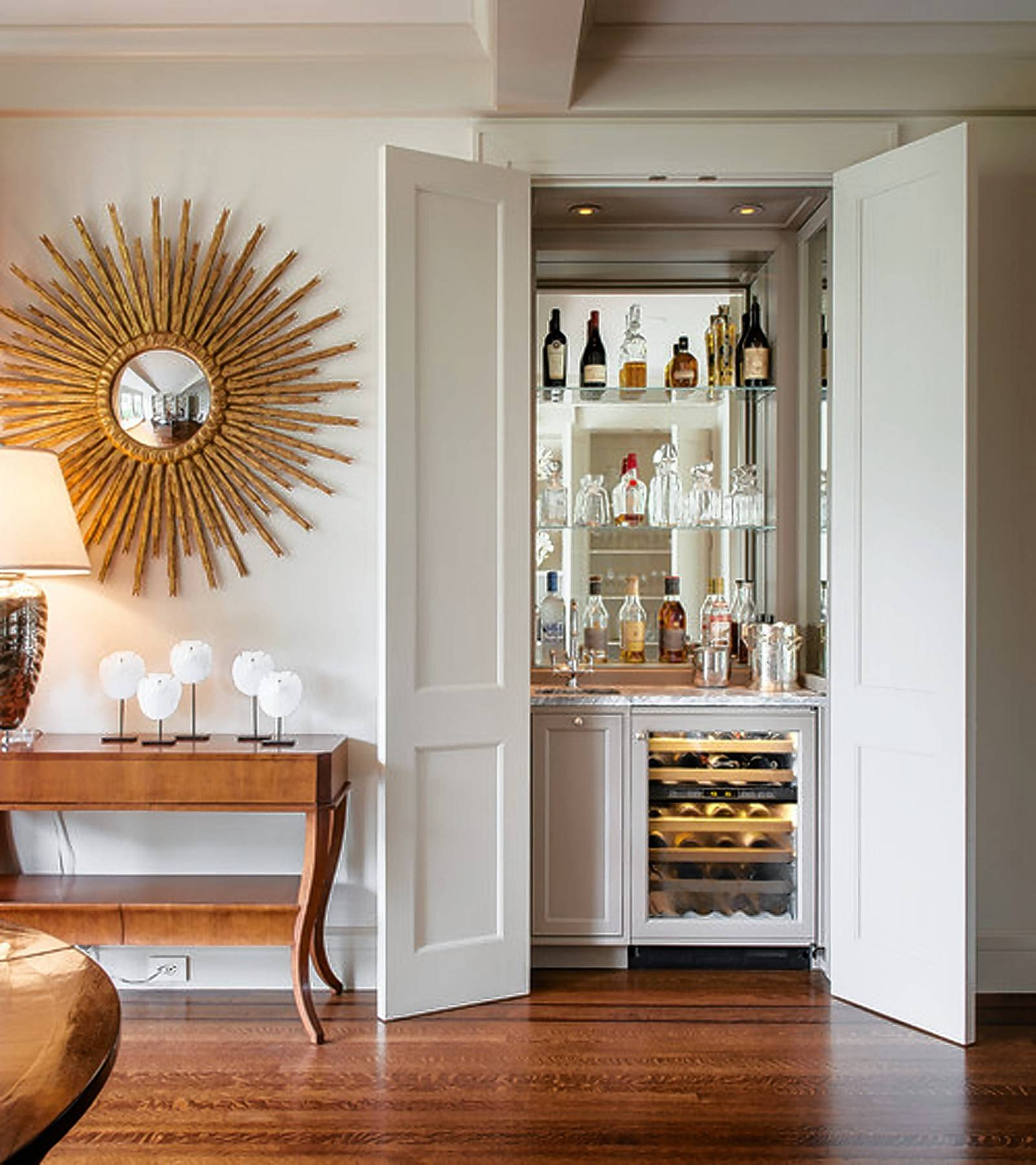 A Closet Can Be Transformed Into A Luxurious Liquor Cabinet And Wine Cellar  Under Lock And