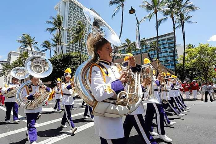 The Mississippi Lions All-State Band performs at the 2015 Lions Clubs International convention in Honolulu, Hawaii. This year's convention, marking the organization's 100th anniversary, will be held Friday, June 30, through July 4 in Chicago.