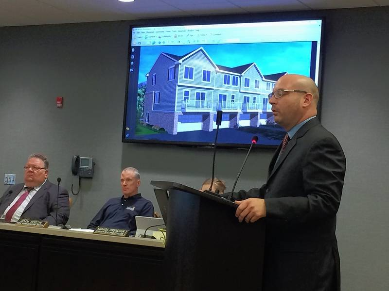 Townhouses Proposed For Unfinished Development On Mundelein 39 S South Side