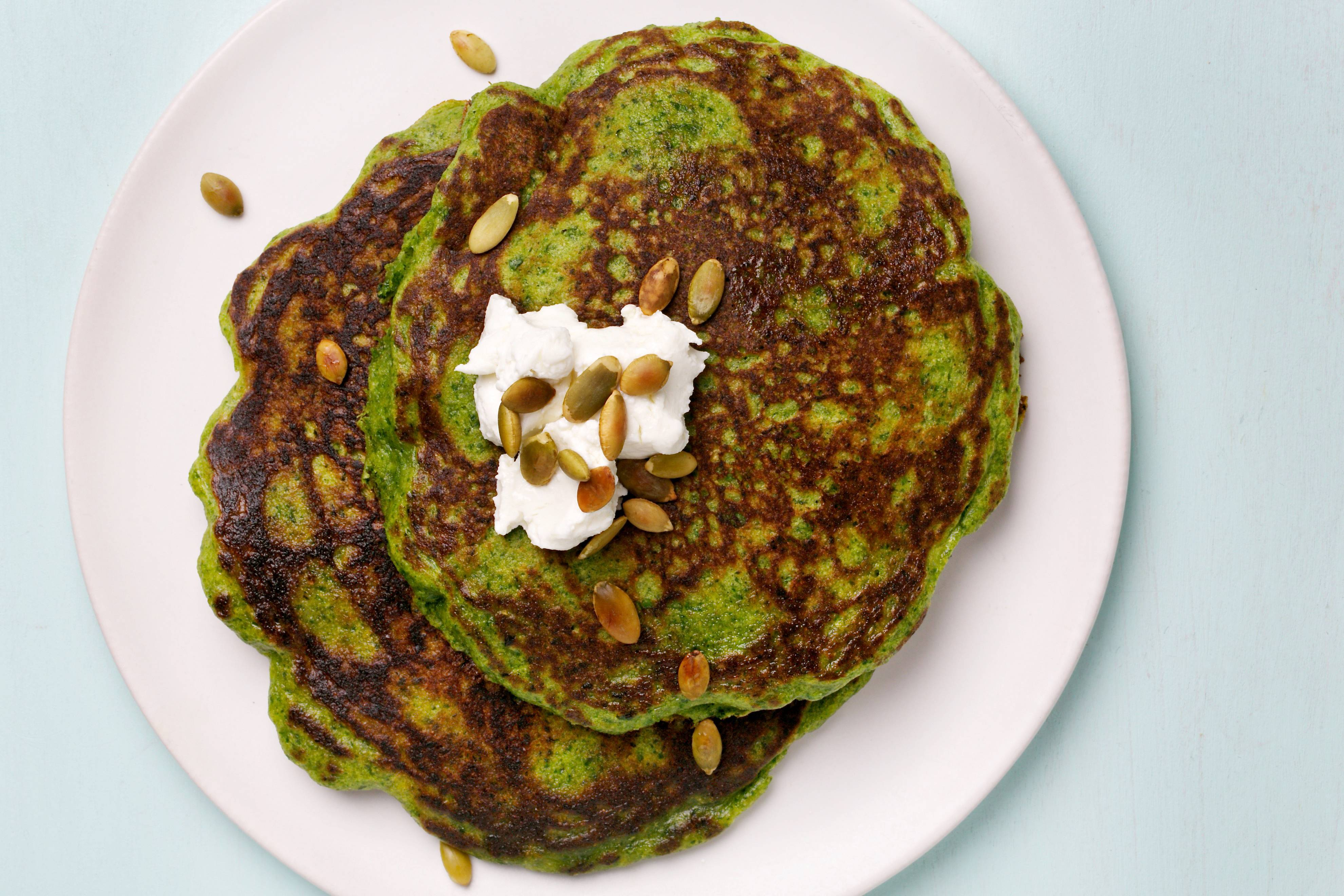 Green Pancakes can be adapted to lean sweet or savory.