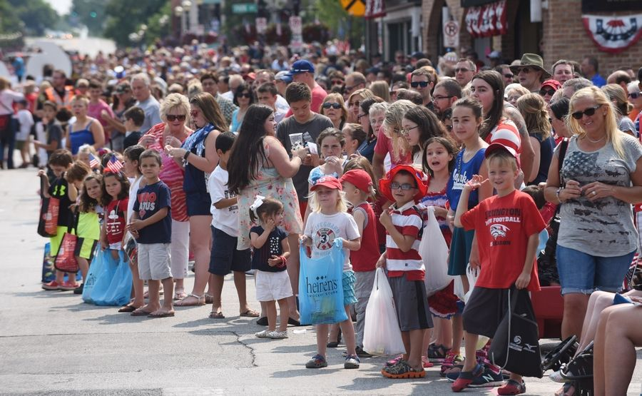 This year's Barrington Fourth of July parade will begin at 10 a.m. It'll start at Barrington High School and go east on Main Street, ending at the Metra commuter station.
