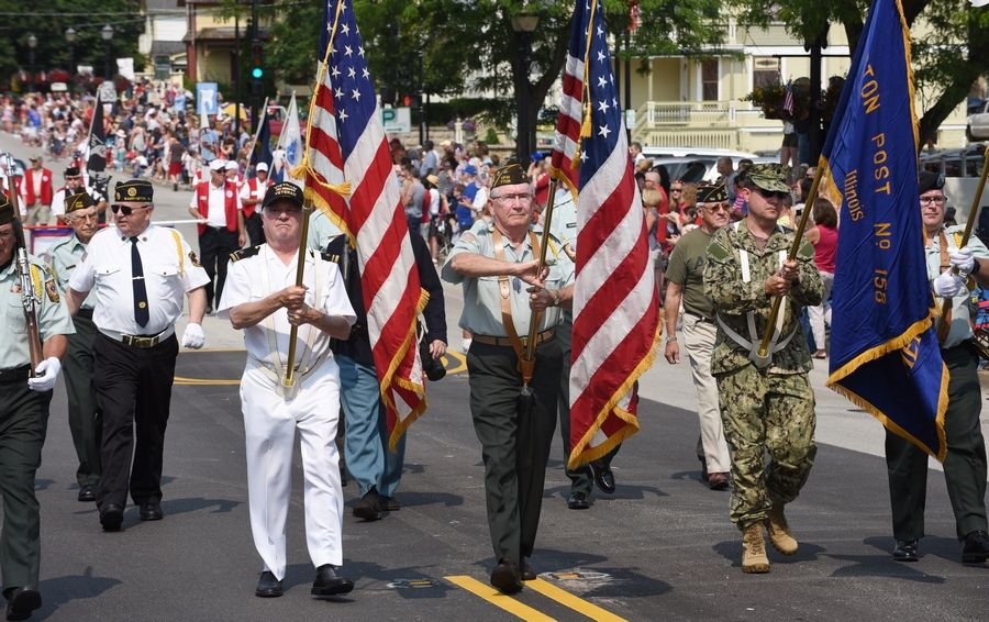 Barrington's Fourth of July parade will begin at 10 a.m. Tuesday. It will step off at Barrington High School and travel down Main Street before ending at the village's Metra commuter rail station.