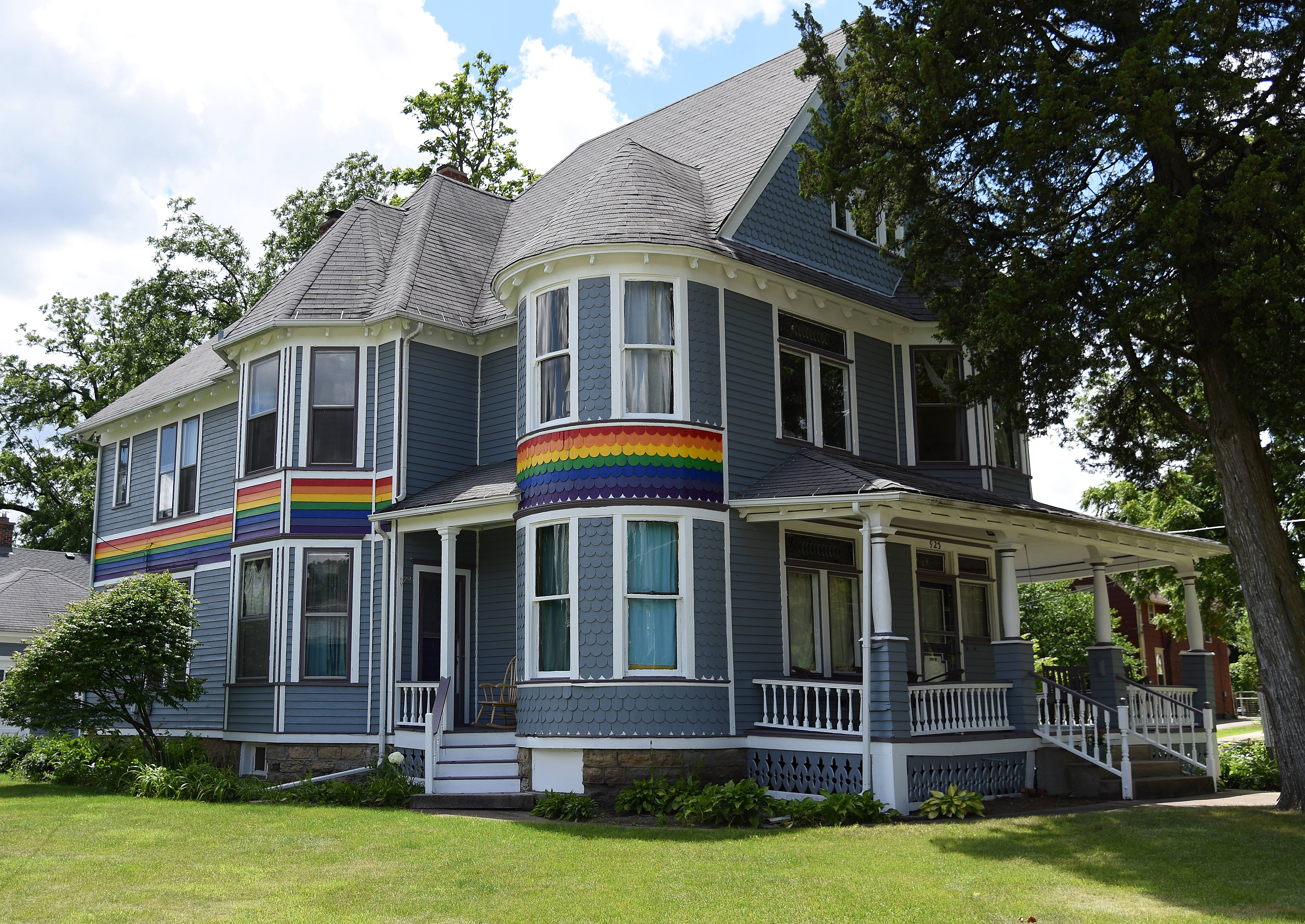 Church of the Brethren Inc. in Elgin wants painter Joshua Martin to paint over a gay pride-like rainbow on a house it owns at 923 W. Highland Ave. The rainbow is at the center of a dispute between Martin and a neighbor.