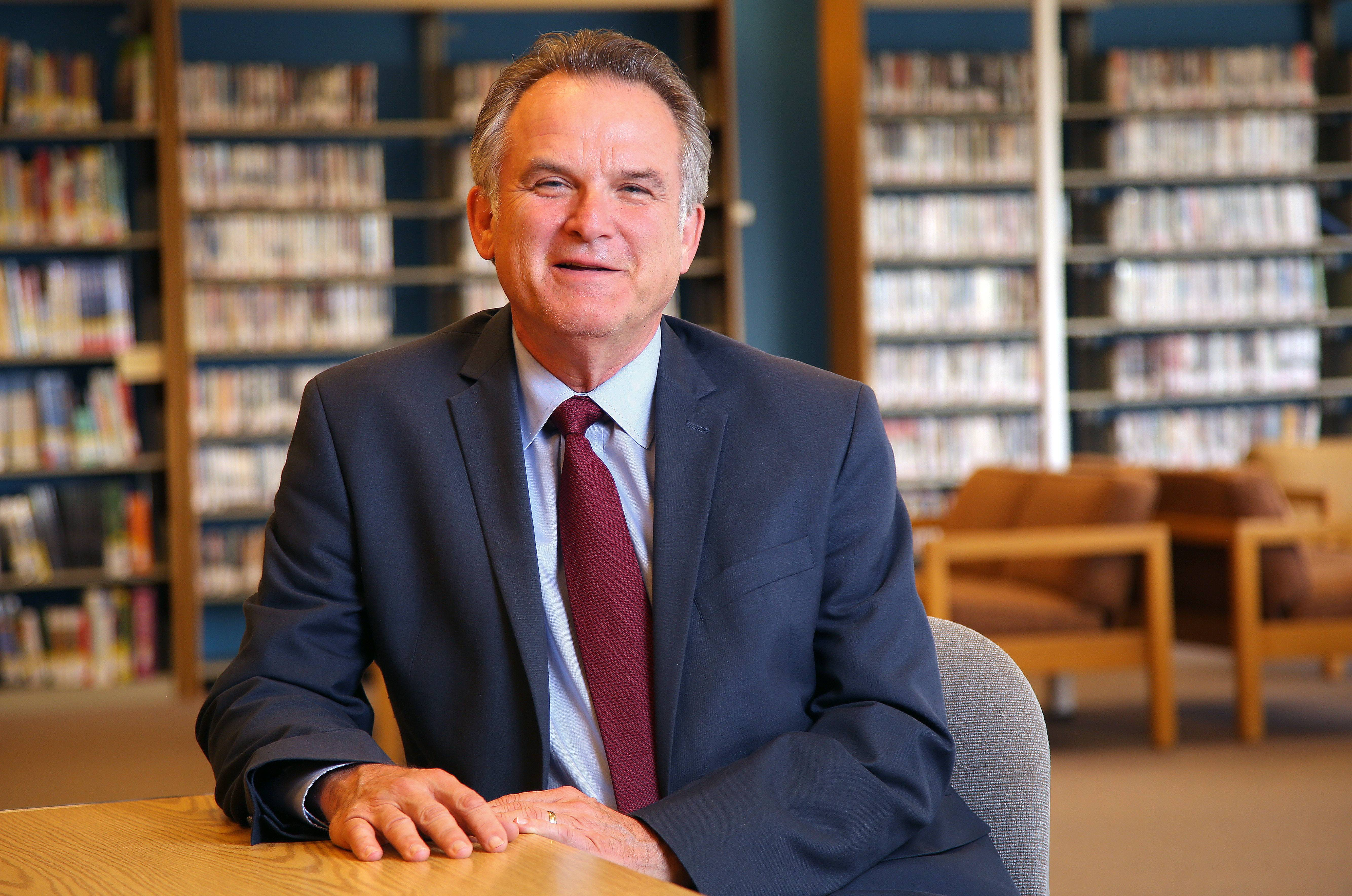 Jerry Weber is leaving the College of Lake County on Friday after an eight-year tenure as the school's president. The school has become a national leader in sustainable practices and facilities during his time as president.