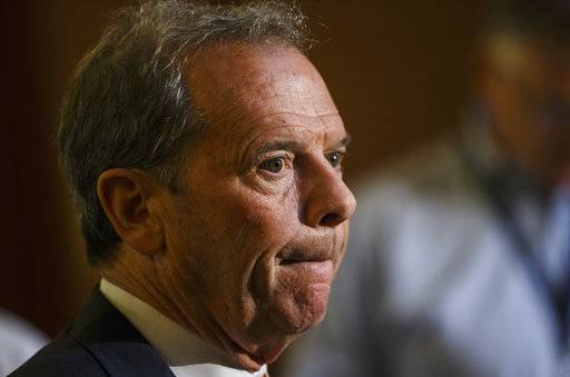 Illinois Senate President John Cullerton, D-Chicago, talks with the media after a leaders' meeting during the overtime session at the Illinois State Capitol, Saturday, July 1, 2017, in Springfield, Ill. The House will vote Sunday on a revenue plan after all.  (Justin L. Fowler/The State Journal-Register via AP)