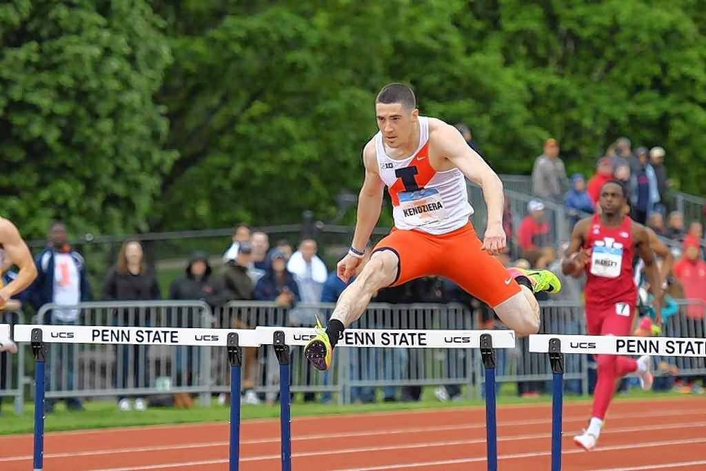 David Kendziera scored 18.25 points at the Big Ten Championships, winning the 400 meter hurdles in 50.88 seconds and taking second in the 100 meter hurdles in 13.47 seconds.