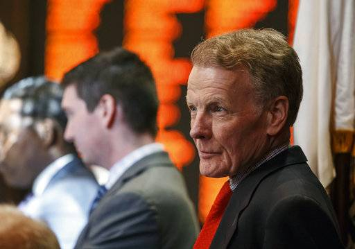 Illinois Speaker of the House Michael Madigan, D-Chicago, listens to the final debate on Senate Bill 9 during the overtime session at the state Capitol, Sunday, July 2, 2017, in Springfield, Ill. The Illinois House has approved an income tax increase as part of a plan to end the nation's longest budget standoff. (Justin L. Fowler/The State Journal-Register via AP)