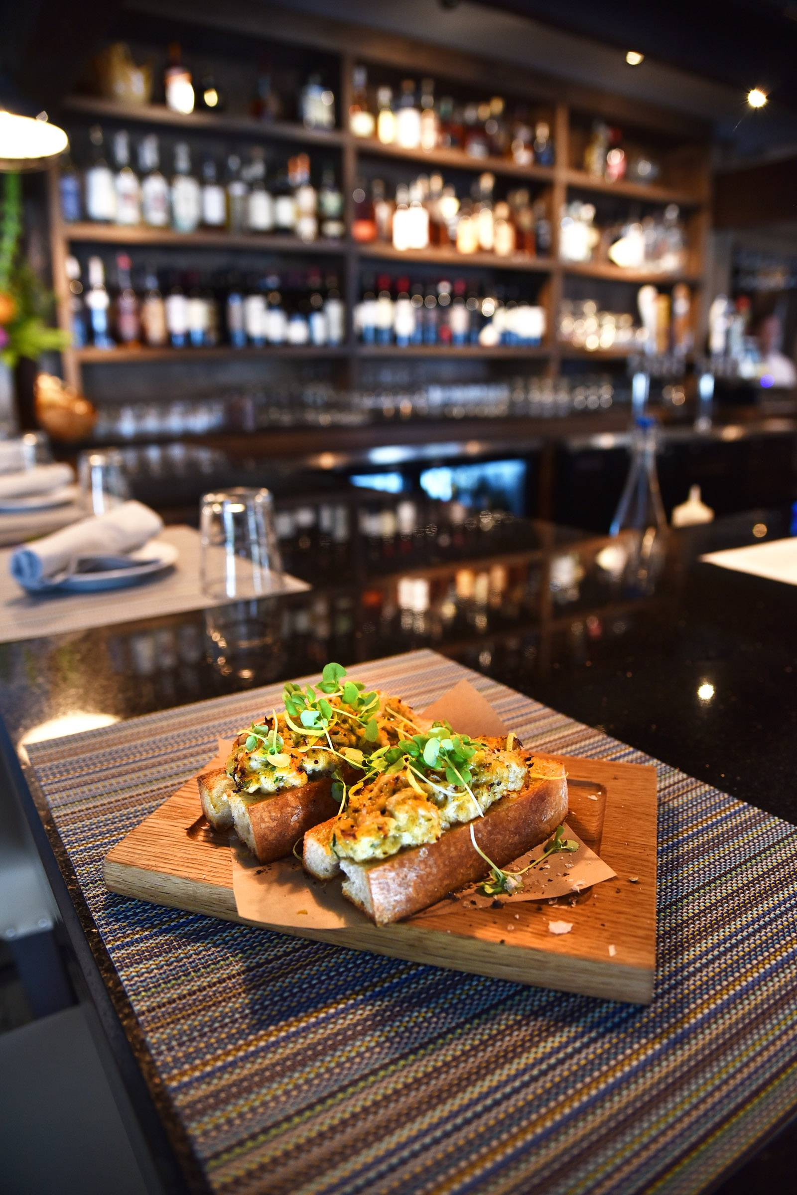Crab Toast makes a satisfying starter at Livia Italian Eatery in Geneva.