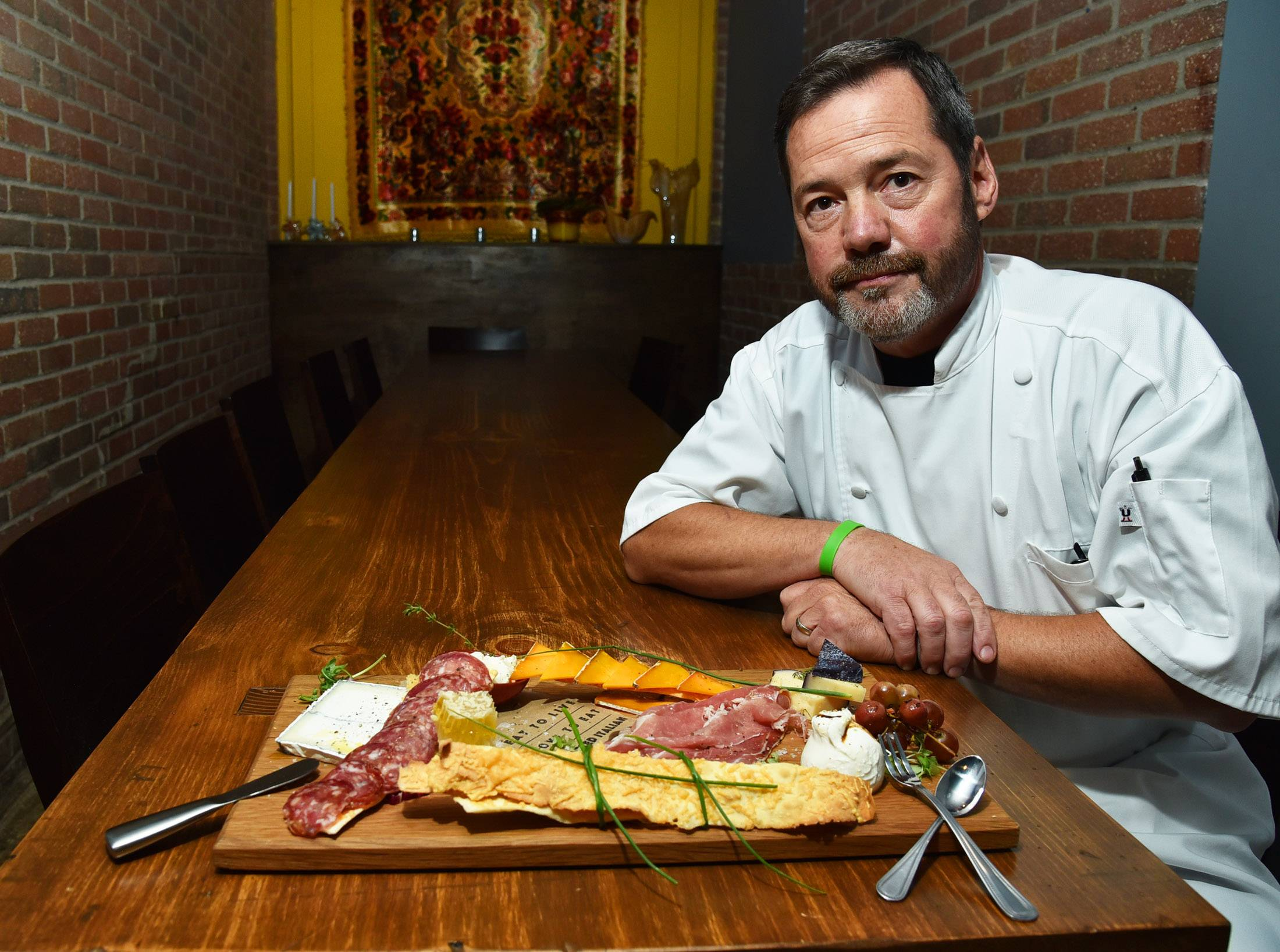 Chef Mike Bomberger's Chef's Board features a mix of meat and cheeses at Livia Italian Eatery in Geneva.