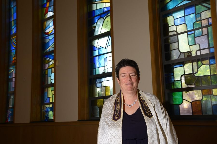 """I want to create a safe, nonjudgmental space,"" says Rabbi Margaret Frisch Klein of Congregation Kneseth Israel in Elgin. She recently spoke at the chamber of commerce's CEO Unplugged series."