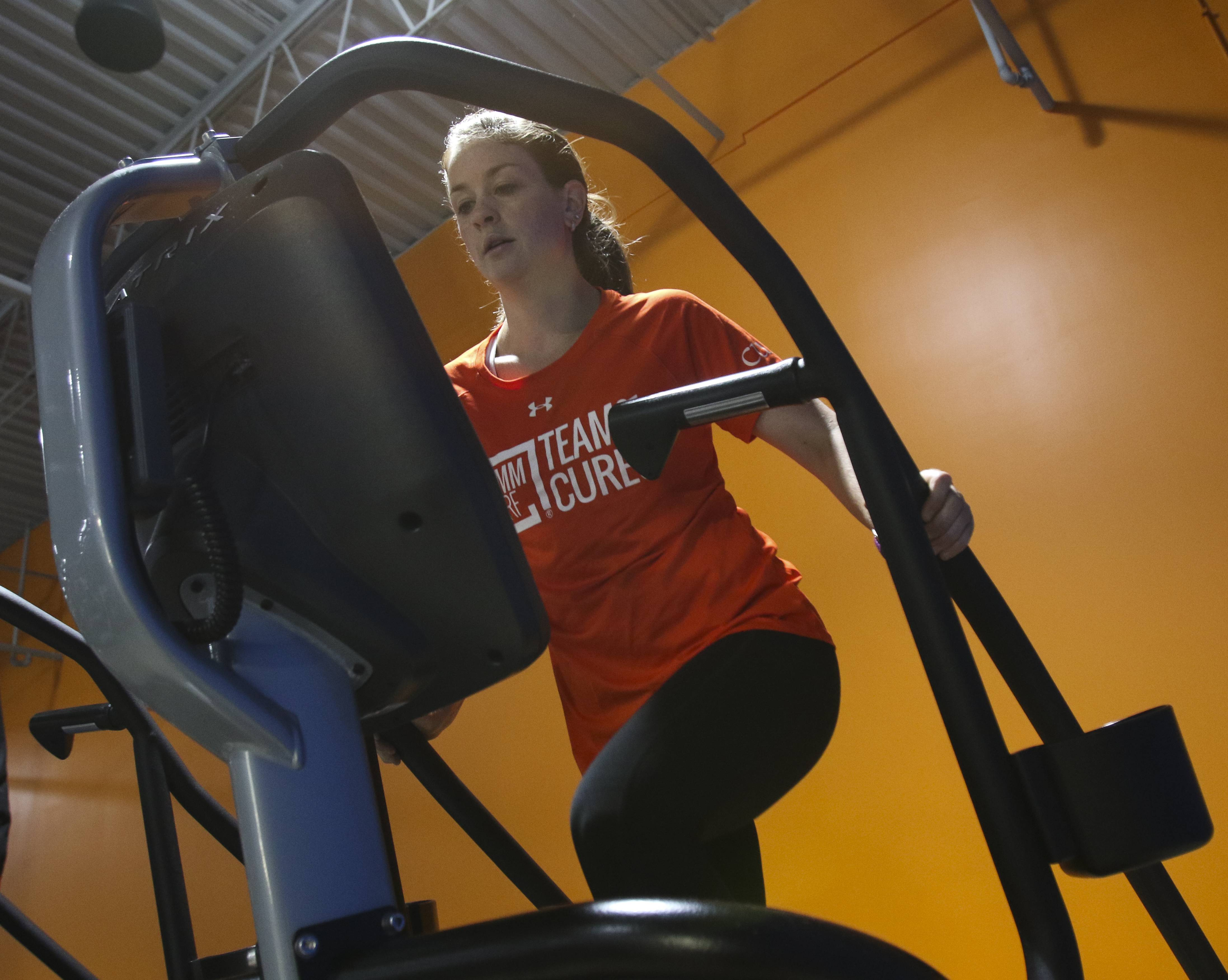 Jean Wescher of Carol Stream trains for her climb of Japan's tallest mountain to raise money to fight the blood cancer that killed her father.