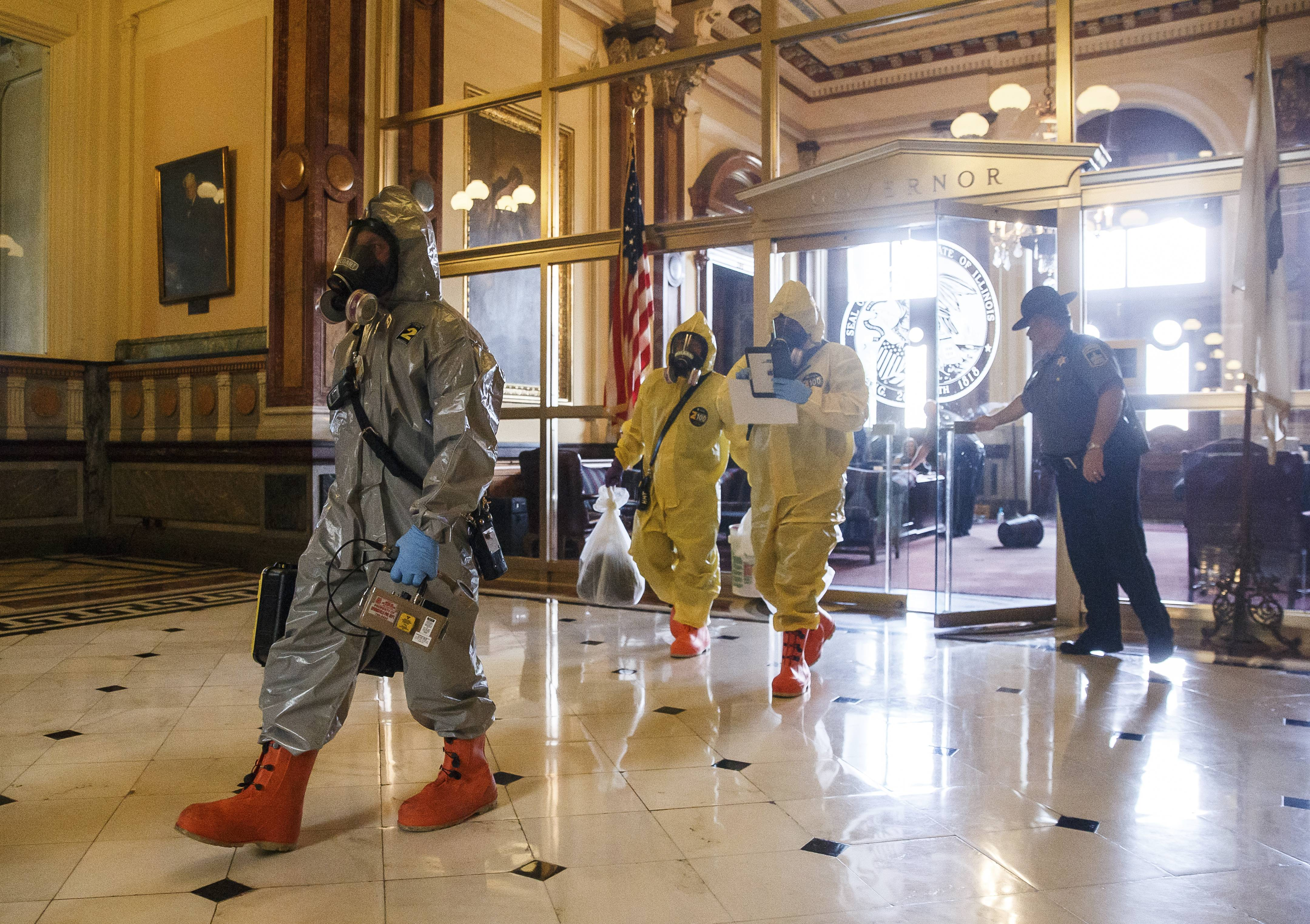 Illinois House in session after two hour hazmat delay