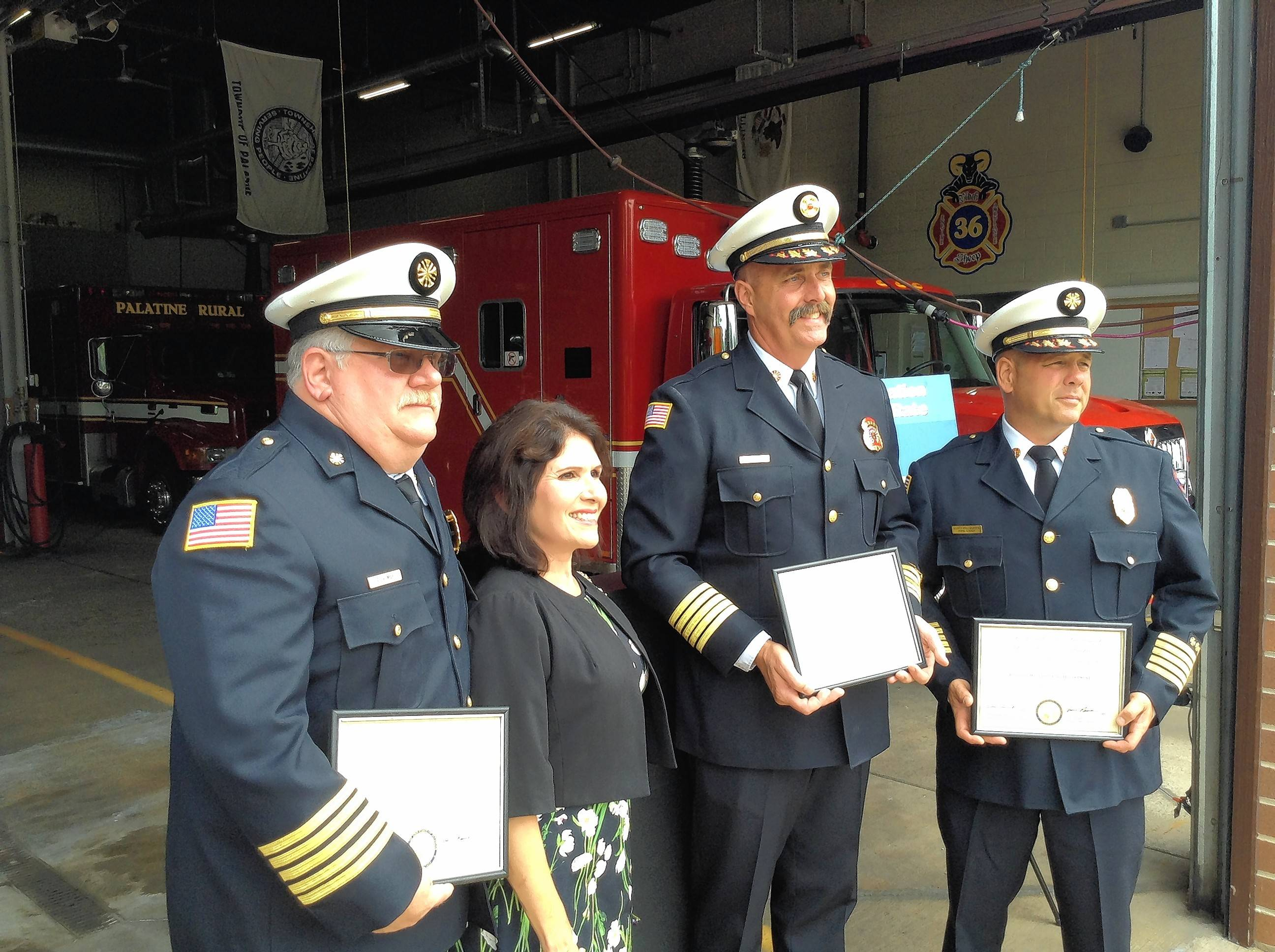 Sanguinetti praises three fire departments for pooling resources